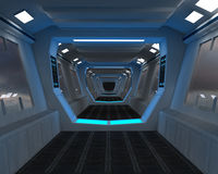 Interior futuristic design concept Royalty Free Stock Image