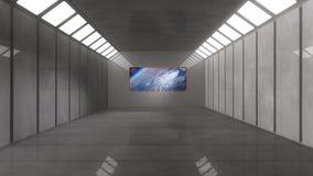 Interior futuristic design concept Stock Images