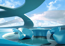 Interior futuro Imagem de Stock Royalty Free