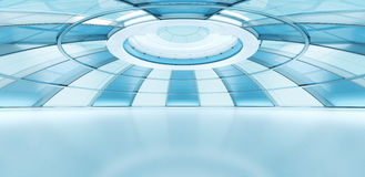 Interior futuro conceptual del estilo Foto de archivo