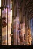 Interior gótico da catedral de Ulm fotografia de stock