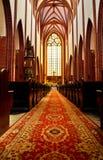 Interior gótico da igreja do St. Mary Magdalene Foto de Stock