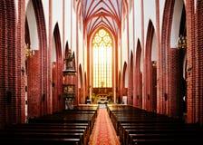Interior gótico da igreja do St. Mary Magdalene Imagem de Stock