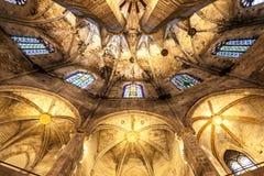 Interior gótico de la iglesia Foto de archivo libre de regalías