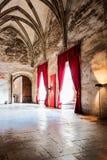 Interior gótico del castillo Fotos de archivo
