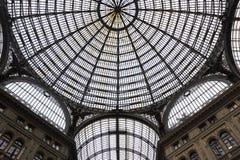 Interior of Galleria Umberto I in Naples, Italy Royalty Free Stock Photography