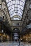 Interior of Galleria Umberto I in Naples, Italy Royalty Free Stock Photo