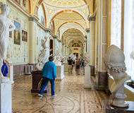Interior gallery of ancient art, the State Hermitage Museum, St. Royalty Free Stock Photo