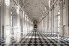 Interior gallery of royal palace of Venaria Reale in Piedmont, U Royalty Free Stock Photography
