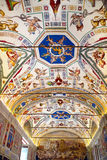 Interior of gallery of the Vatican Museum in the Vatican City, R Stock Photo