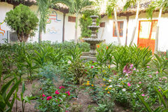 Interior garden from Colonial house Royalty Free Stock Photos