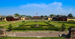 Interior gardens of the Imperial City, Hue, Vietnam. Stock Photography