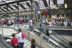 Interior of the Gare de Lyon in Paris, France Stock Photography