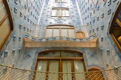 Interior Gaudi`s creation house Casa Batlo royalty free stock image