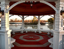 Interior of a gazebo Royalty Free Stock Photos