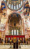 Interior of Gelati Monastery near Kutaisi. It is a medieval complex recognized by UNESCO royalty free stock photos