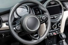 Interior of a generic sport car Royalty Free Stock Image