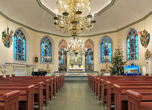 Interior of the German Christinae church in Gothenburg, Sweden Royalty Free Stock Images