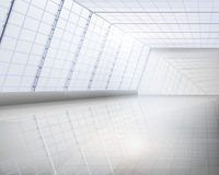 Interior of glass building Royalty Free Stock Images