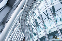 Interior of Glass in Business Office  building Financial Skyscra Stock Image