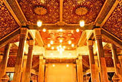 Interior of Golden Buddha temple Stock Photo