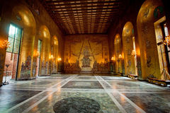 Interior of Golden Hall of the Stockholm City Hall, Sweden Stock Images