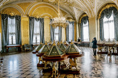 The  interior of the Golden living room in the Hermitage Museum Stock Photography