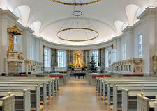 Interior of Gothenburg Cathedral, Sweden Stock Photography