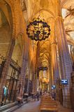 Interior of the Gothic Barcelona Cathedral (Catedral de Barcelon Stock Image