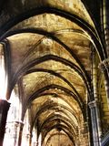 Interior of gothic cathedral Royalty Free Stock Photos