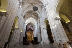 Interior of  gothic Cathedral. Tarragona Stock Image