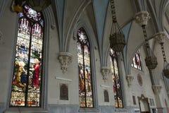 Interior of gothic church Stock Images