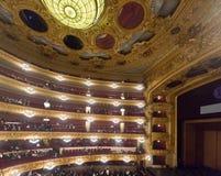 Interior of The Gran Teatre del Liceu Royalty Free Stock Images