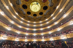 Interior of The Gran Teatre del Liceu Royalty Free Stock Image