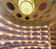 Interior of The Gran Teatre del Liceu,  opera house Royalty Free Stock Images