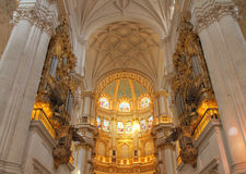 Interior of Granada Cathedral Stock Photo
