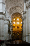 Interior of Granada Cathedral.  Spain Stock Photography
