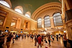 Interior of Grand Central Station in New York City stock image