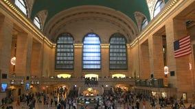 Interior of Grand Central Station, NY. Interior view of Grand Central Station in New York, USA stock footage