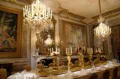 Interior grand dining room Stock Photos