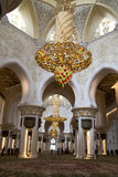 Interior Grand Mosque Abu Dhabi Royalty Free Stock Photos
