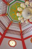 Interior of grand mosque cheng hoo in Purbalingga, Indonesia stock photography