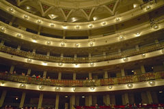 Interior of Grand Teatro and opera house in Old Havana, Cuba Royalty Free Stock Images