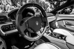Interior of grand tourer car Maserati GranCabrio MC, since 2012. Royalty Free Stock Photo