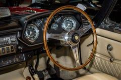 Interior of grand tourer car Maserati Mistral Spyder, 1967. Stock Photos