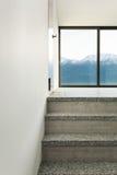 Interior, granite staircase Royalty Free Stock Image
