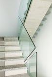 Interior, granite staircase Stock Photos
