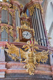 Interior of the Graz Cathedral, Austria. Royalty Free Stock Images