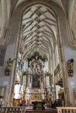Interior of the Graz Cathedral, Austria. Royalty Free Stock Photo