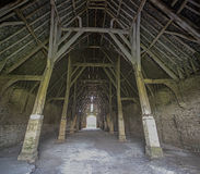 Interior of Great Coxwell Tithe Barn Stock Images